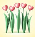 heart tulips vector image