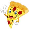 Cartoon pizza giving thumb up vector image vector image