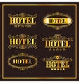 Hotel vintage golden labels vector image
