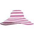Summer beach hat vector image