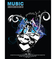 music background with dj vector image vector image