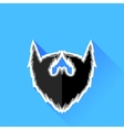 Black Beard Icon vector image