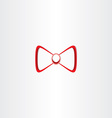 bow tie stylized icon design vector image