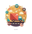 Delivery services modern flat design business vector image