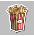 Fried Potatoes Sticker vector image