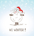 Funny sketching sheep - symbol of the New Year vector image