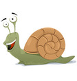 happy snail character vector image