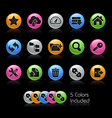 Hosting Icons vector image