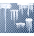 Icicles Transparent Set vector image