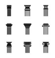 pillar icons set simple style vector image