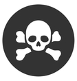 Skull Black Spot Flat Icon vector image