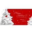 Stylish christmas card with Cardinal Bird vector image