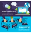Technical support call center and service online vector image