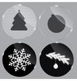 Glass Christmas button vector image vector image