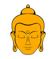 head of buddha icon cartoon vector image