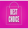 Silhouette of shopping bags with the word Best vector image vector image