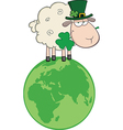 Cartoon sheep vector image