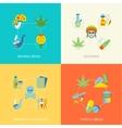 Drugs flat set vector image