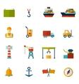 Seaport Flat Icon vector image