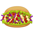 Cartoon kebab doner vector image