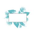 Natural Floral Frame vector image