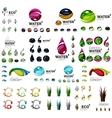 Eco nature concepts icon set vector image vector image