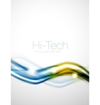 Glossy wave coporate business brochure identity vector image