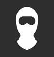 Balaclava or ski mask - face mask of terrorists vector image