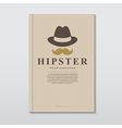 Book cover in vintage hipster style vector image