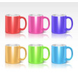 Color realistic ceramic coffee tea mugs vector image