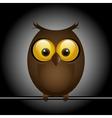 funny cute bird owl vector image