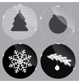 Glass Christmas button vector image