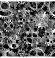 Metal gears pattern vector image