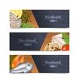 Seafood Banner Set vector image