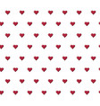 seamless pattern with beautiful red hearts vector image