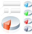 set of pie chart icons on white background vector image