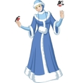 Snow Maiden with birds vector image
