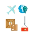 transport related icons vector image