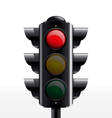 TRAFFIC light red vector image vector image