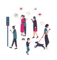 gadgets smartphone addiction conceptual vector image