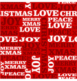 Merry Christmas text seamless pattern vector image