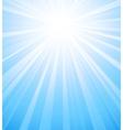 Blue summer sun light burst vector image