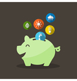 Energy Saving with Piggy Bank vector image