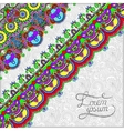 ornamental background with flower ribbon stripe vector image vector image