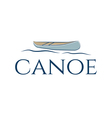 abstract icon canoe vector image