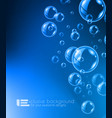 Shiny quality bubble liquid background for modern vector image vector image