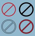 stopban sign icon set vector image
