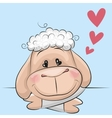 Sheep with hearts vector image