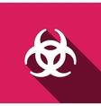 Biohazard sign icon Danger symbo vector image