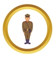 A man in army uniform icon vector image